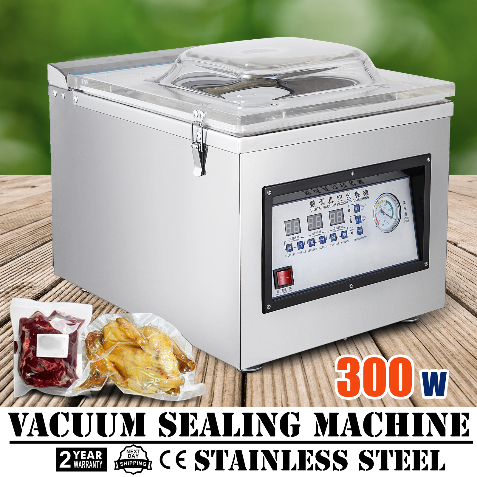 DZ-400T Automatic Vacuum Packing Sealing Sealer Machine Power Kit Commercial