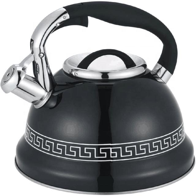 Acier Inoxydable 2.5 L sifflement bouilloire théière chaudière Prima bleu tea pot