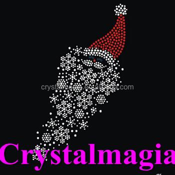 2017 christmas iron on crystal transfers snowflake rhinestone hot fix motif