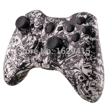 2015 NEW Custom Hydro Dipped White Skull Ghost Shell Parts for Microsoft Xbox 360 Wireless Controller with tools Free Shipping