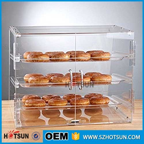 Acryl brood cake doos baker kast model acryl kasten display box