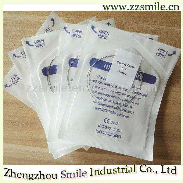 Super elastic/Stainless steel/Reverse curve orthodontic dental arch wire