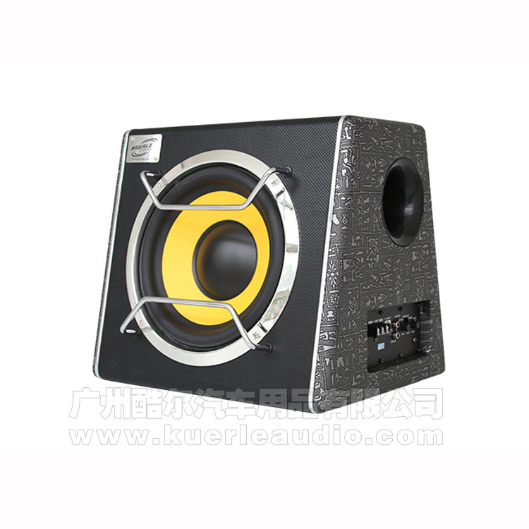 Cool and happy 10-inch high-power subwoofer, dual trapezoidal active subwoofer, car stereo subwoofer car
