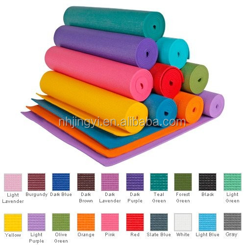 Eco-friendly TPE NBR PVC exercise light weight yoga mat with carrying strap