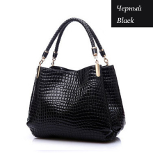 2015 Alligator Pu Leather Women Bolsas De Couro Fashion Sequined Shoulder Bag Zipper Ladies Handbags Bolsas Femininas