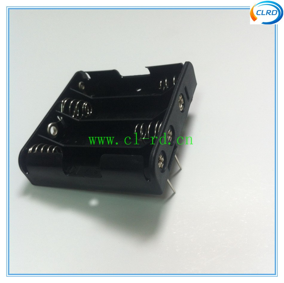 4*aa Battery Holder With 2 Pcb Pin 6v 4pcs 14500 Cell Box