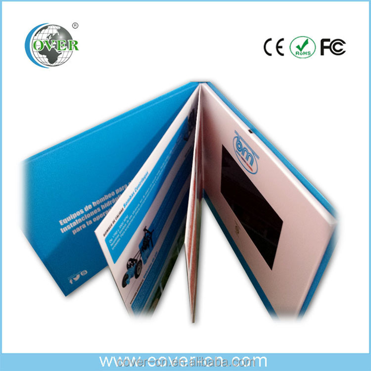 LCD video card with magnet switch for promotion/Advertising/wedding