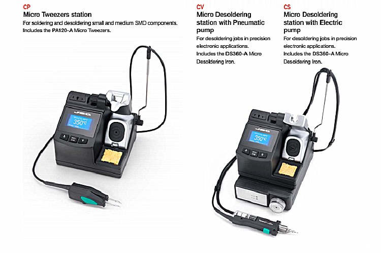 JBC CV-2E 230V Desoldering Station With Pneumatic Pump