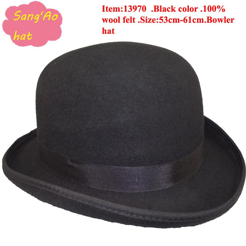 Snap Black Bowler Hat Promotion Shop for Promotional Black Bowler ... d1ec4e08ada1