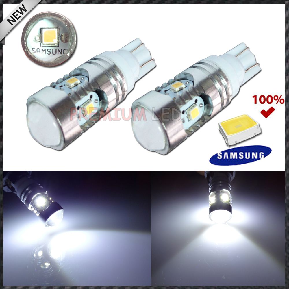 White High Power T10 168 W5W 5w Samsung 2835-SMD LED Bulbs For Position, License, Backup Light, side marker Door Lights,etc