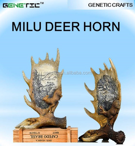 NEW DESIGN HOUSE DECOR CHINA NATURE RESIN MILU DEER HORN