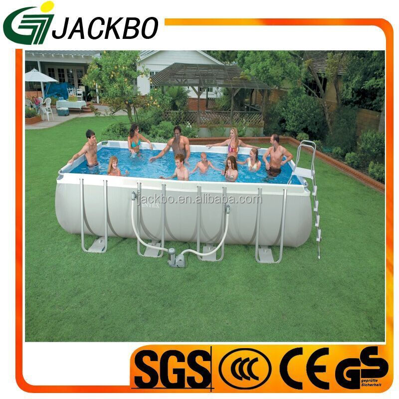 Hot Intex Family Rectangular Round Bracket Frame Pool Freestanding Swimming