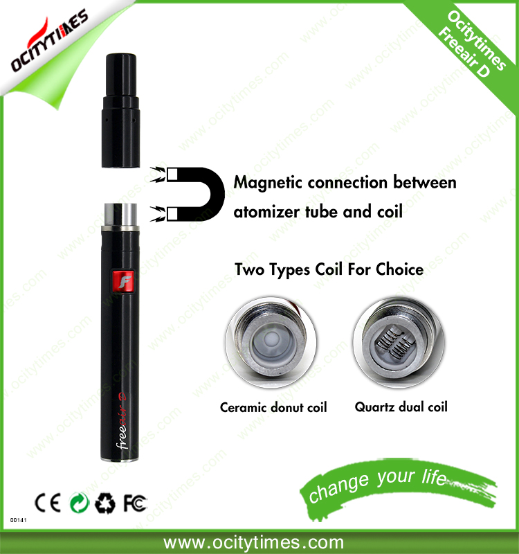 Ocitytimes herb vaporizer portable dry ego ceramic 510 freeair-d dry herb and wax vaporizer pen with factory price