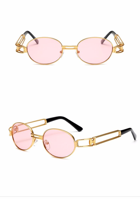 e2b266be6d4 Peekaboo vintage retro gothic steampunk mirror sunglasses gold and black  sun glasses vintage round circle men UV gafas de solUSD 9.76 piece Peekaboo  New ...