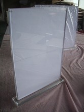 Clear acryl T-vorm acryl tafel menu display <span class=keywords><strong>houder</strong></span> met magnetics