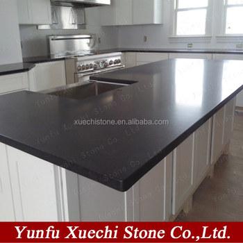 Honed Surface Kitchen Black Granite Countertop On Sale Buy Granite Countertop Black Granite