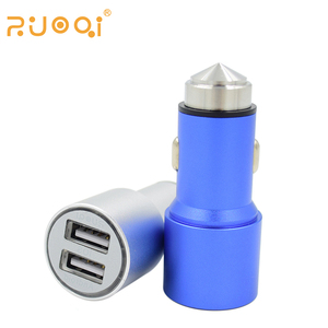 Cell phone accessories custom colors two USB car charger