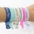Custom printed korean flat elastic baby girl personalized children hair tie bracelet knotted
