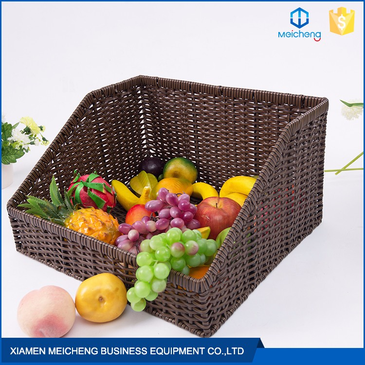 New design multifunction fruit decorative rattan polypropylene cane basket