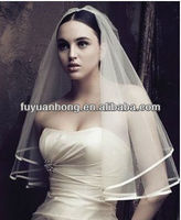 JA101 satin edge wedding bridal veil