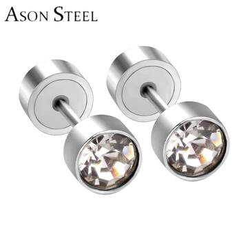 High Quality 18k Gold Plated Stainless Steel Small Boy Style Stud Earrings 2017