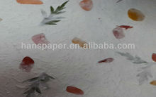 handmade paper with petals and leaves HPP008