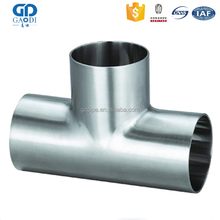Full Size Pipe Connection Joint Stainless Steel Tee Fitting