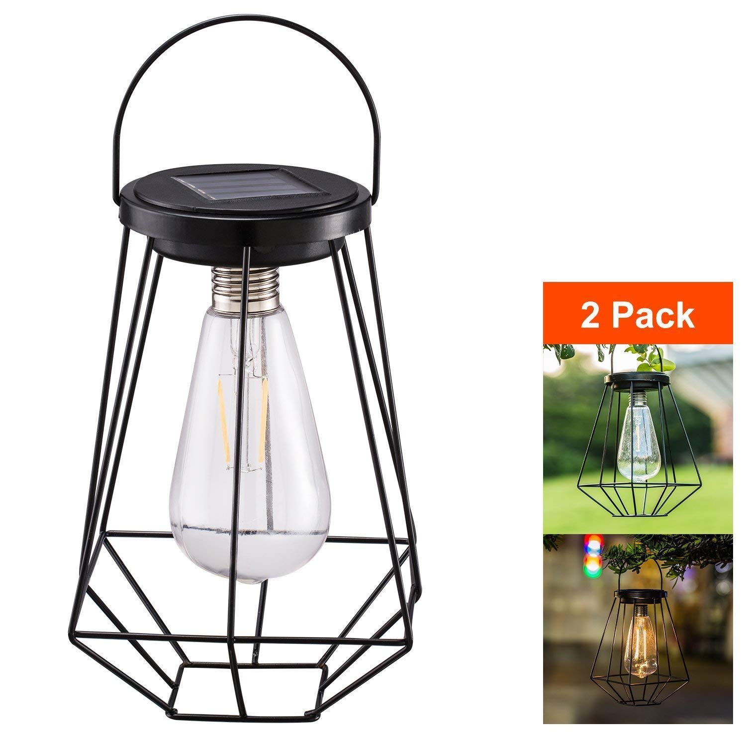 Buy Outdoor Solar Lanterns Lamps Tabletop Filament Led