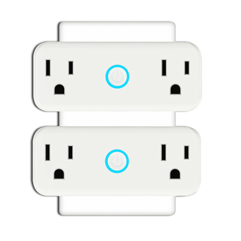 Mini WiFi Smart Socket US Standard Dual Outlet Wall Switch Plug No Hub Required Work with Amazon Alexa and Google Home