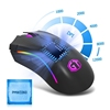 Fast Respones Optical Wired Mouse for Game,with Sensor 12000DPI 12000FPS 7 Buttons RGB Backlight Fire Key Wholesale Drop Ship