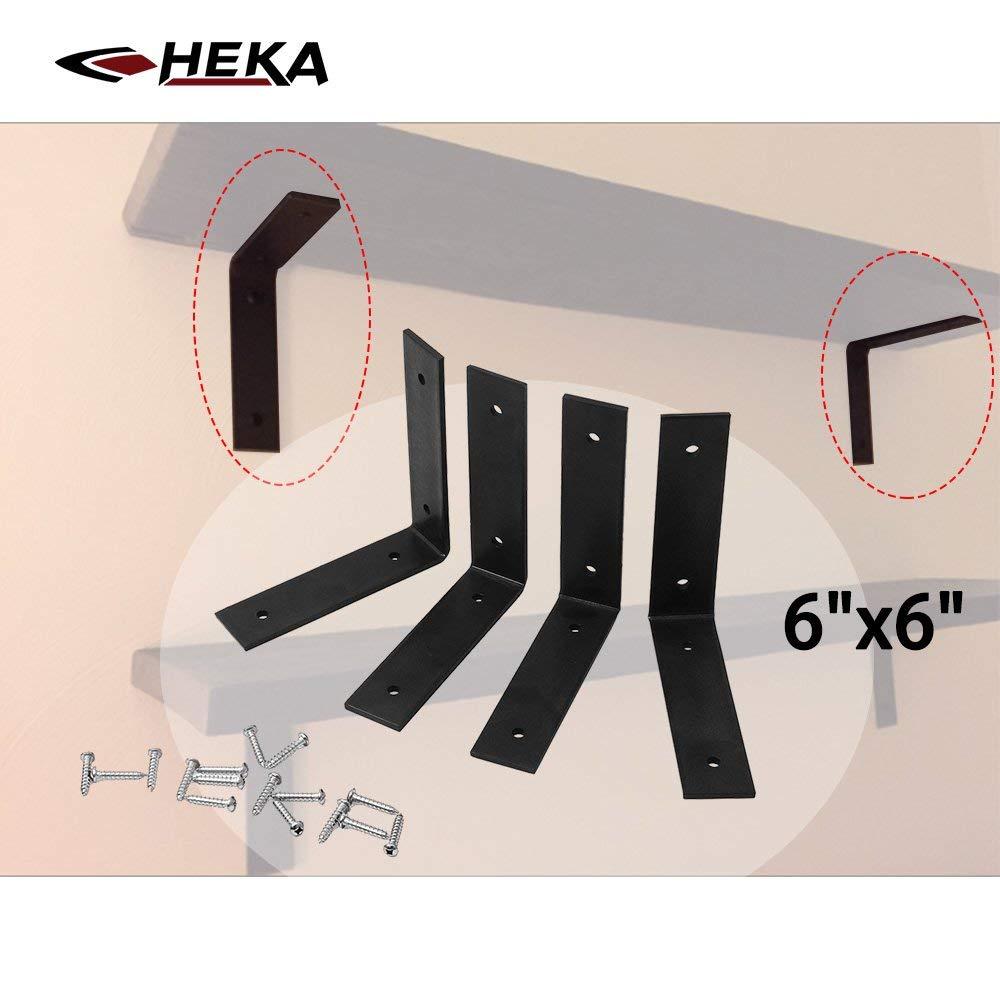 9.25x6 Lip Wall Shelf Brackets Angle Metal Shelve Modern Decorative 2 Pack
