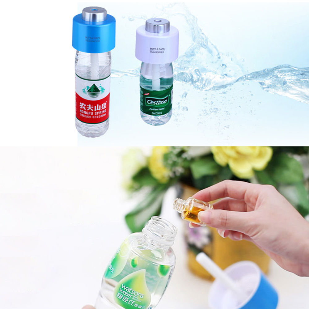 2017 USB Mini Mineral water bottle cap (without bottle) Portable Small air humidifier