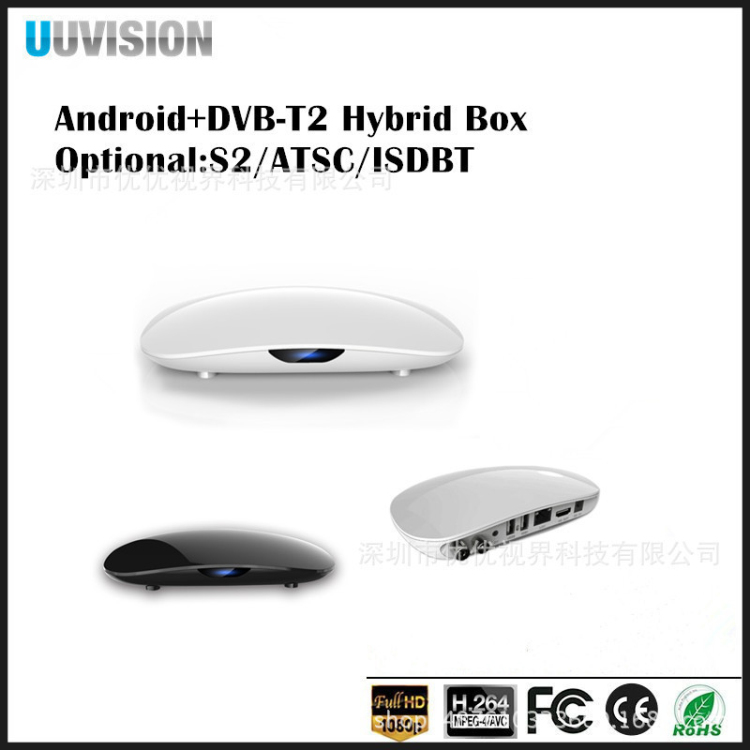 Shenzhen Set Top Box 2017 Best Digital Cable Set Top Box Price Uuvision TV Box OTT+ISDBT UH901 with Amlogic S905 Qual Core