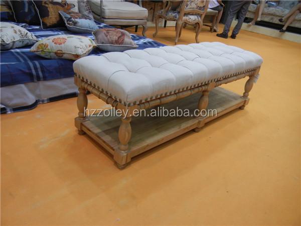 2016 nuevo profesional de diseño francés muebles de dormitorio banco ...