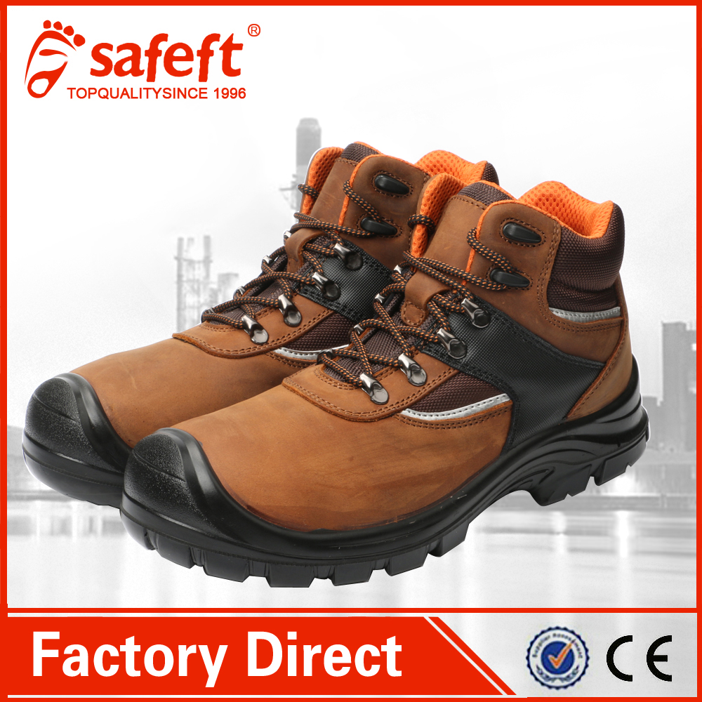 hot selling new design jelly safty nubuk leather fashion men high quality cut work steel toe shoes