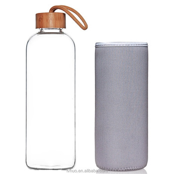 1000ml Borosilicate Glass Water Bottle With Bomboo Lid 32 Oz Buy