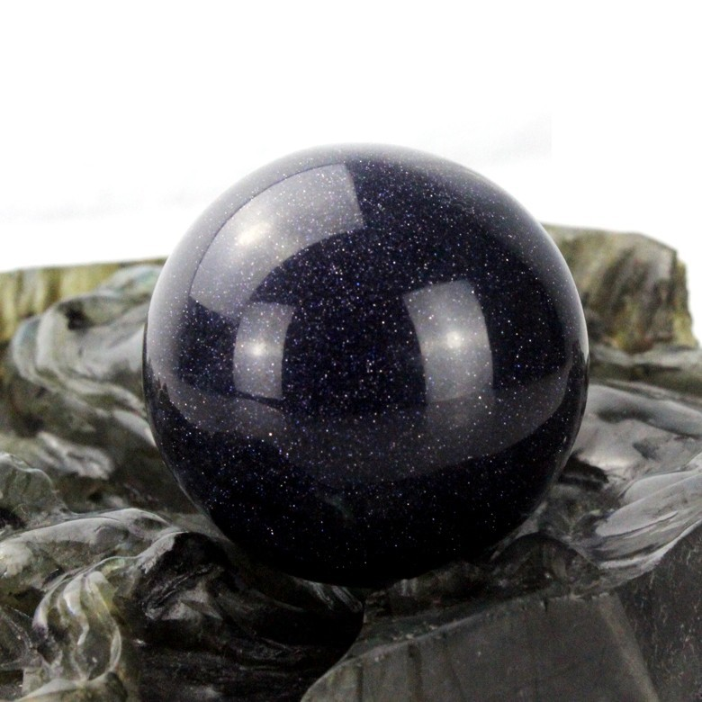 40mm Blue sandstone Sphere quartz crystal sphere balls for kegel exercise