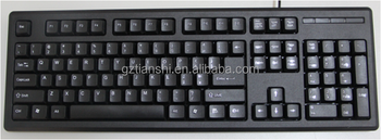 hot sale cheap wired desktop keyboard for pc buy wired keyboards standard keyboard usb. Black Bedroom Furniture Sets. Home Design Ideas