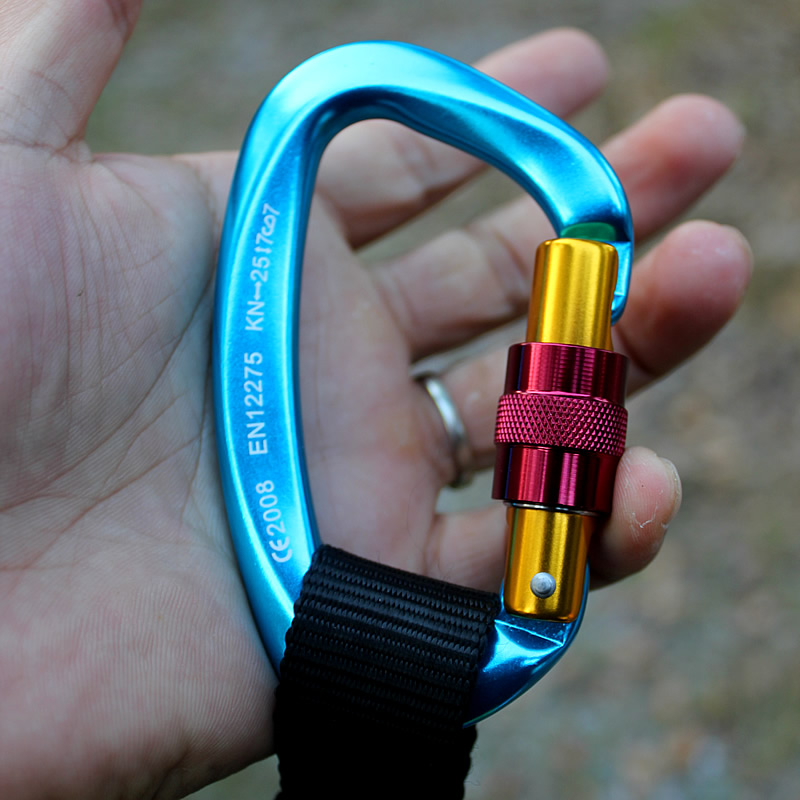 12KN Aluminium Wiregate Carabiners 4 Pack, Rated 2700 LBS Each KAMOTA Lightweight Carabiner Clips for Hammocks Clipping
