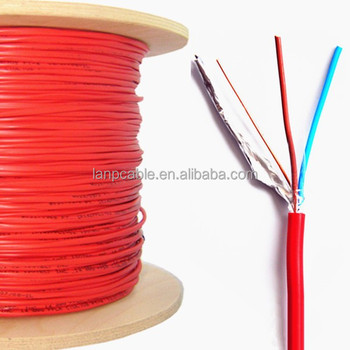 18 Awg 2 Conductor Wire | 18 Awg 2 Conductor Solid Shielded Fire Alarm Cable 1000 Ft Buy 18