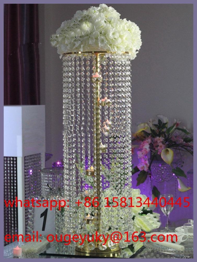 Modern Crystal Chandelier Centerpiecesgold Wedding Centerpieces For