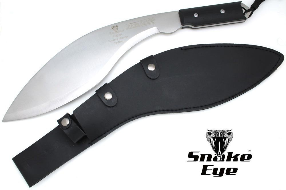 Snake Eye Tactical Full Tang Heavy Duty Handmade G-10 Handle Fixed Blade Kukri Knife Outdoors Hunting Camping Fishing