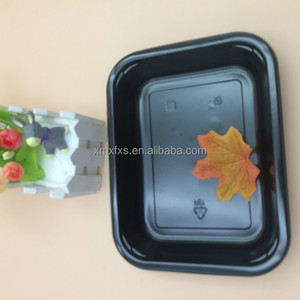 One Compartment CPET Plastic Microwave Food Compartment tray