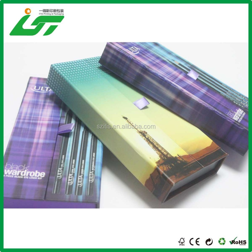 East color and delux printing empty gift pen box packaging and pen set gift box made in Chiona