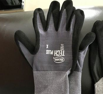 Pu coated work glove 13 gauge grip Oil and Gas Resistant Safety Cuff Heavy Duty fast production