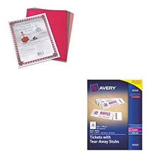 KITAVE16154PAC103637 - Value Kit - Avery Printable Tickets w/Tear-Away Stubs (AVE16154) and Pacon Riverside Construction Paper (PAC103637)