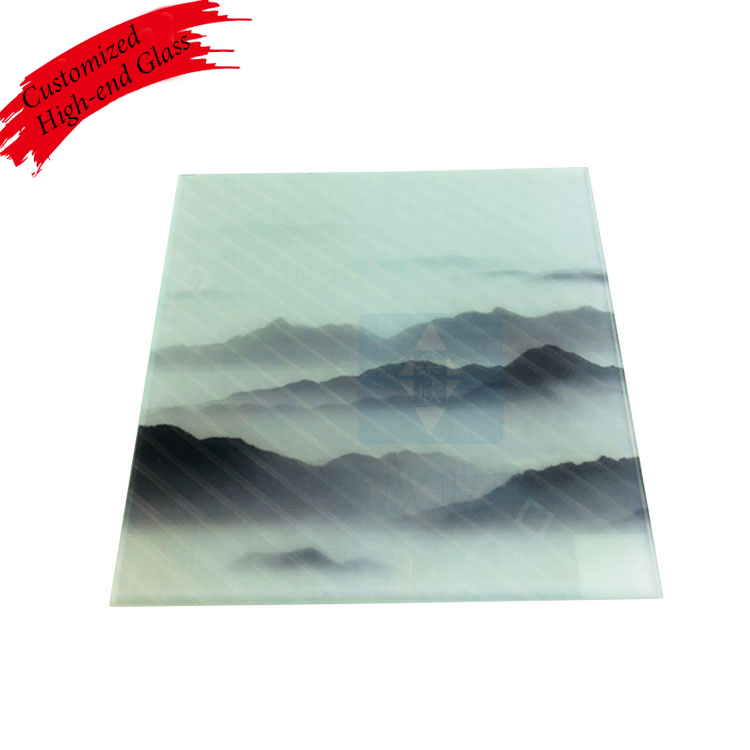 Popular decorative digital printing glass patterned glass