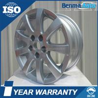 14*6 inch 9spoke 5hole silver car alloy wheel rim for Volkswagon POLO