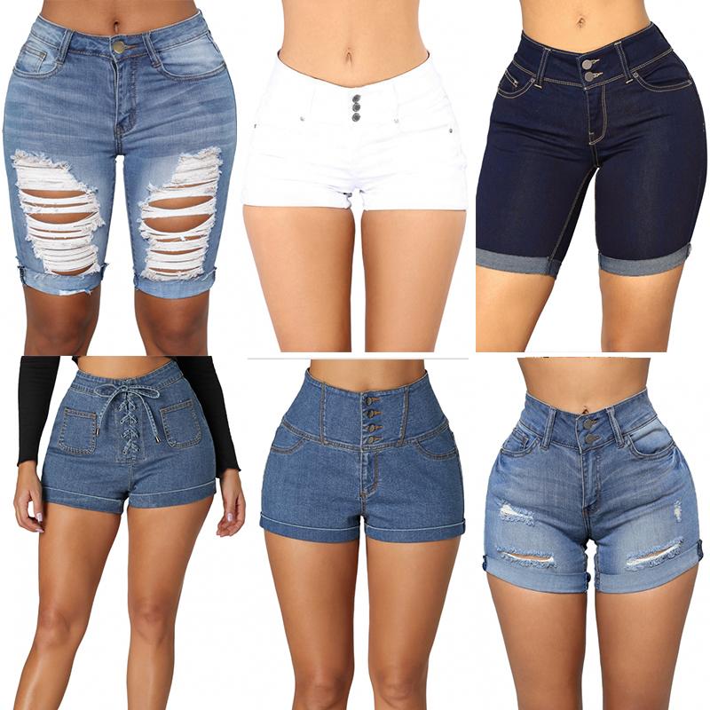 Lavado Bodycon Pantalones Vaqueros Cortos De Cintura Alta Mujeres Buy Jeans Mujer Jeans Cortos Jeans Cortos Mujer Product On