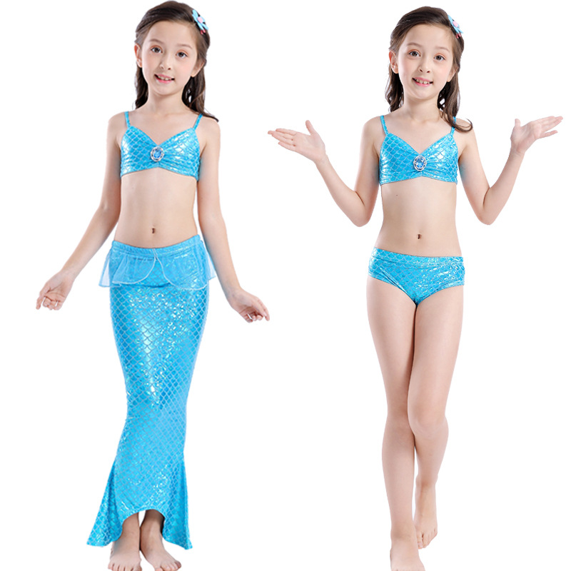 Little Children Mermaid Tails For Swimming Suit Girls Bikini Swimsuit Costume Kids Mermaid Princess Dress Cosplay Can Add Fin Skilful Manufacture Mother & Kids